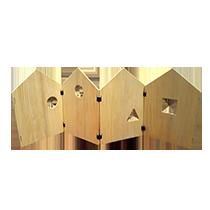Biombo casita infantil madera pikler montessori juguetes astronauta