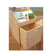 Estantería Librería infantil de madera montessori pikler juguetes astronauta